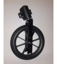 set - wheel PU - 200 x 25 (50) - black - including fork and support